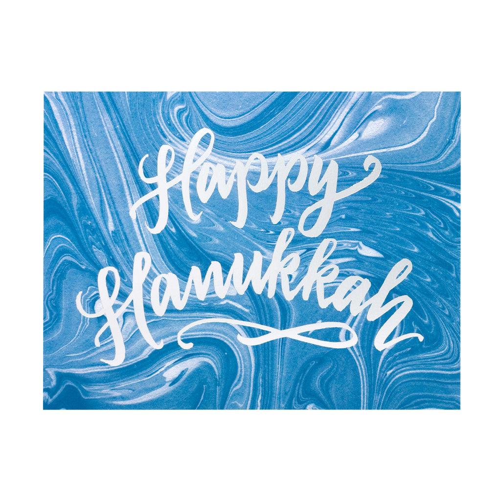 Blue Marble Hanukkah