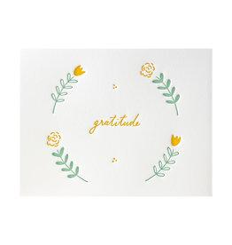 Ink Meets Paper Floral Gratitude Letterpress Cards Box of 6