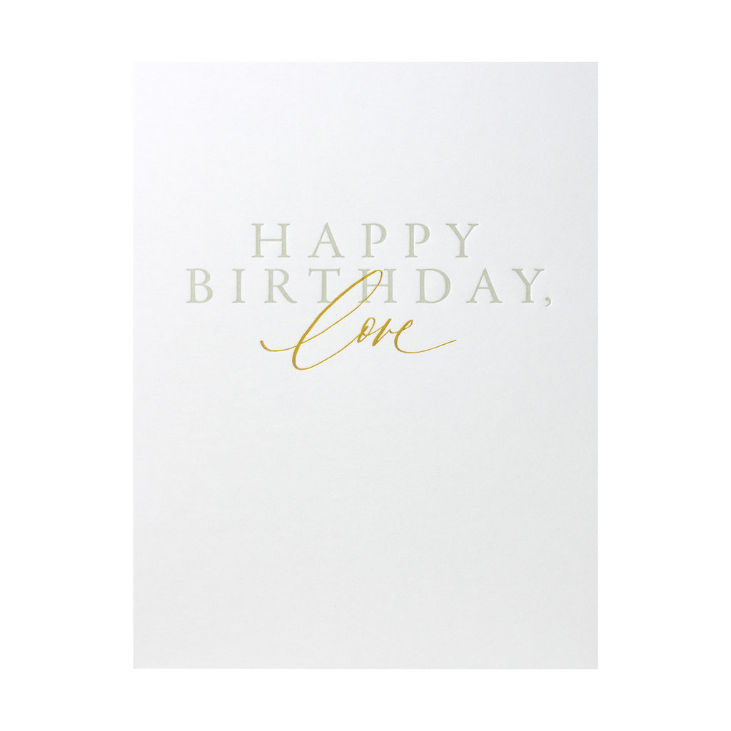 Little Well Paper Co. Happy Birthday, Love