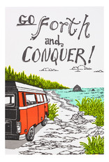Old School Stationers Go Forth and Conquer - lettterpress card