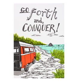 Old School Stationers Go Forth and Conquer - letterpress card