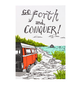 Old School Stationers Go Forth and Conquer letterpress card