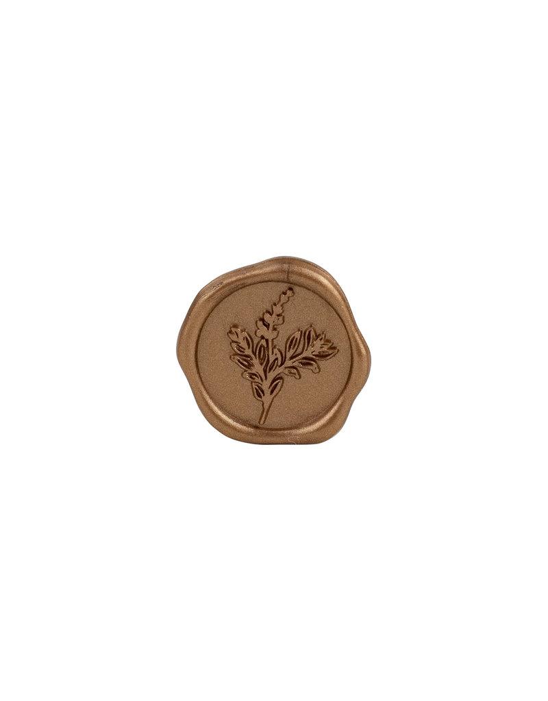 Freund Mayer Adhesive Wax Seals Botanical Gold