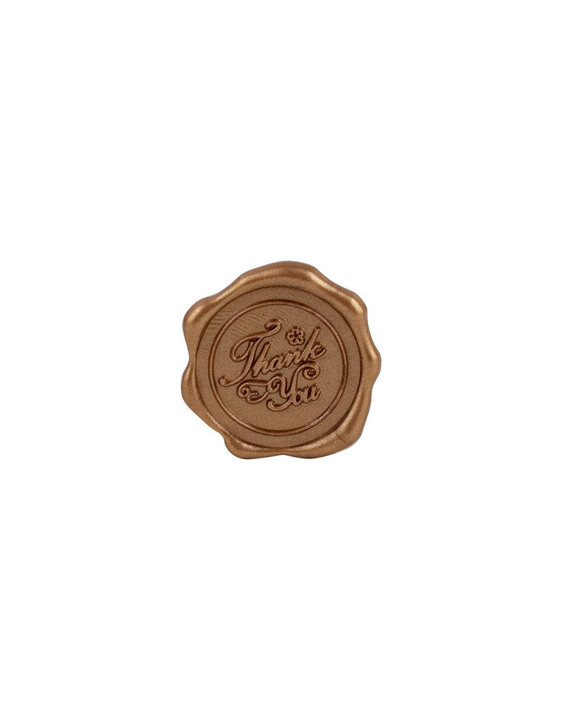 Freund Mayer Adhesive Wax Seals Thank You Gold