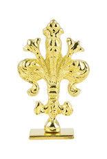 "Freund Mayer Florentine Square Brass Seal Filigree ""L"""