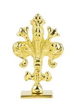"Freund Mayer Florentine Square Brass Seal Filigree ""O"""