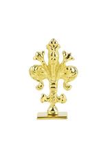 "Freund Mayer Florentine Square Brass Seal Filigree ""V"""