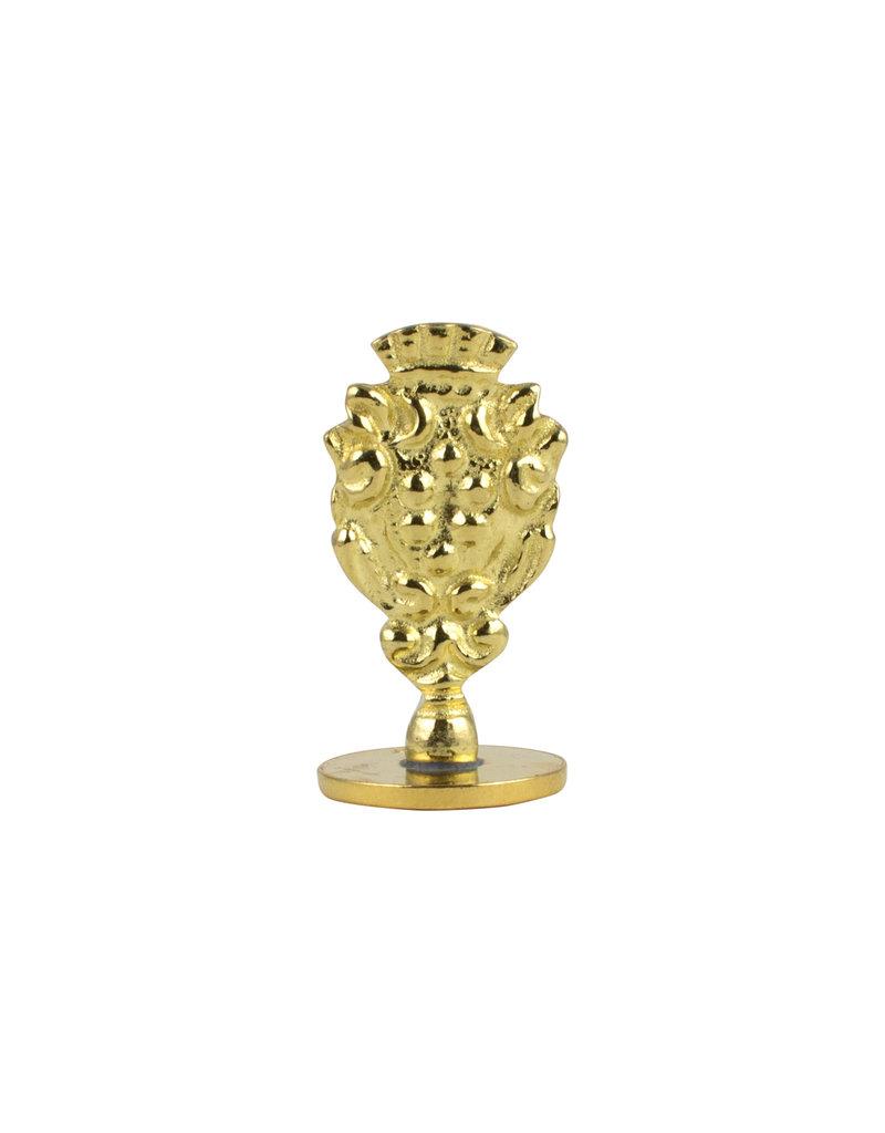 """Freund Mayer Florentine Round Brass Seal Cerif """"B"""""""