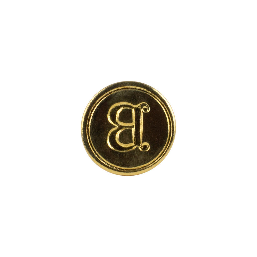 "Freund Mayer Florentine Round Brass Seal Cerif ""B"""