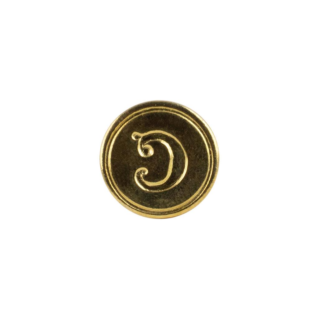 """Freund Mayer Florentine Round Brass Seal Cerif """"C"""""""