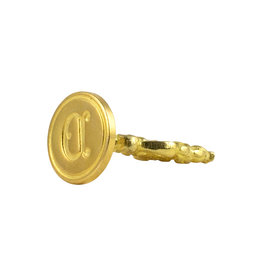 "Freund Mayer Florentine Round Brass Seal Cerif ""D"""