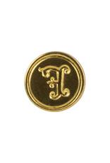 """Freund Mayer Florentine Round Brass Seal Cerif """"F"""""""