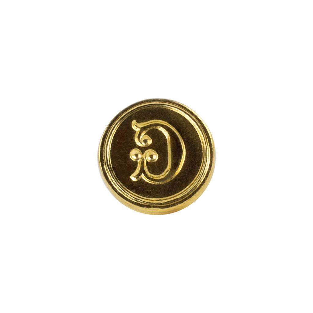"""Freund Mayer Florentine Round Brass Seal Cerif """"G"""""""