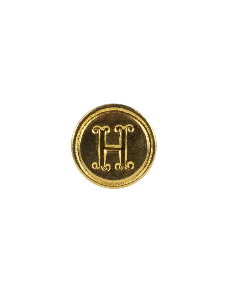 """Freund Mayer Florentine Round Brass Seal Cerif """"H"""""""