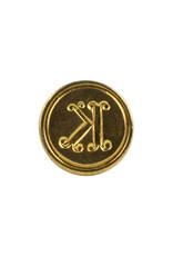 """Freund Mayer Florentine Round Brass Seal Cerif """"K"""""""