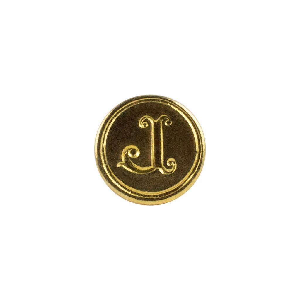 """Freund Mayer Florentine Round Brass Seal Cerif """"L"""""""