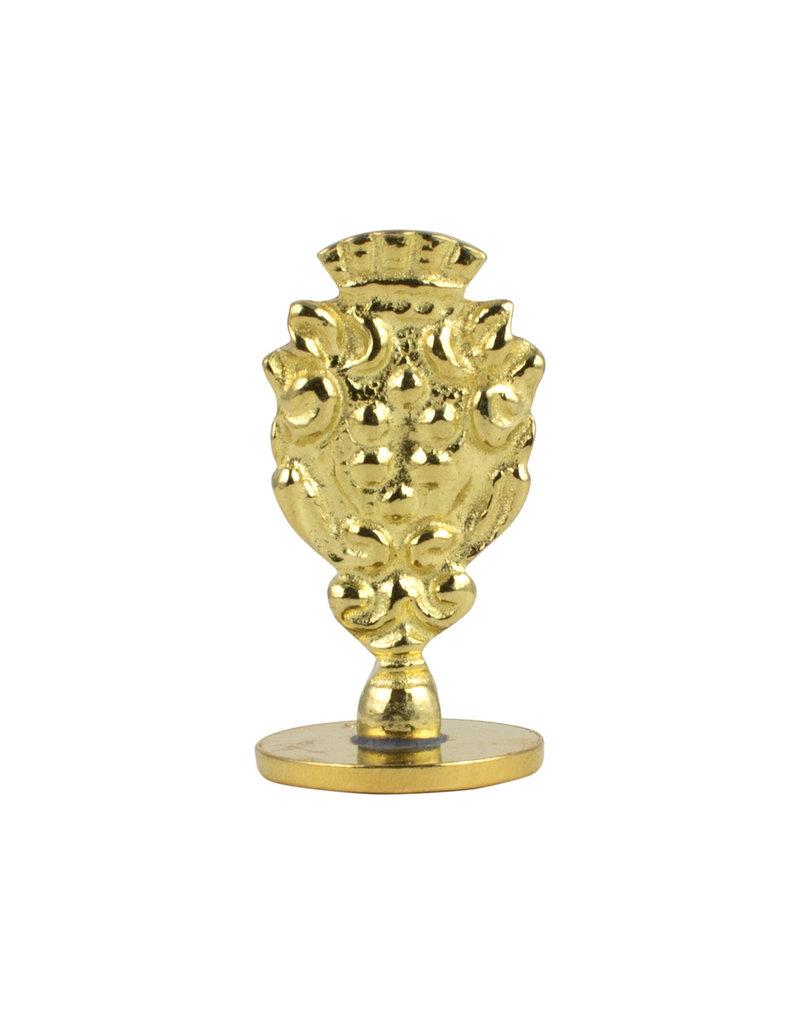 """Freund Mayer Florentine Round Brass Seal Cerif """"M"""""""