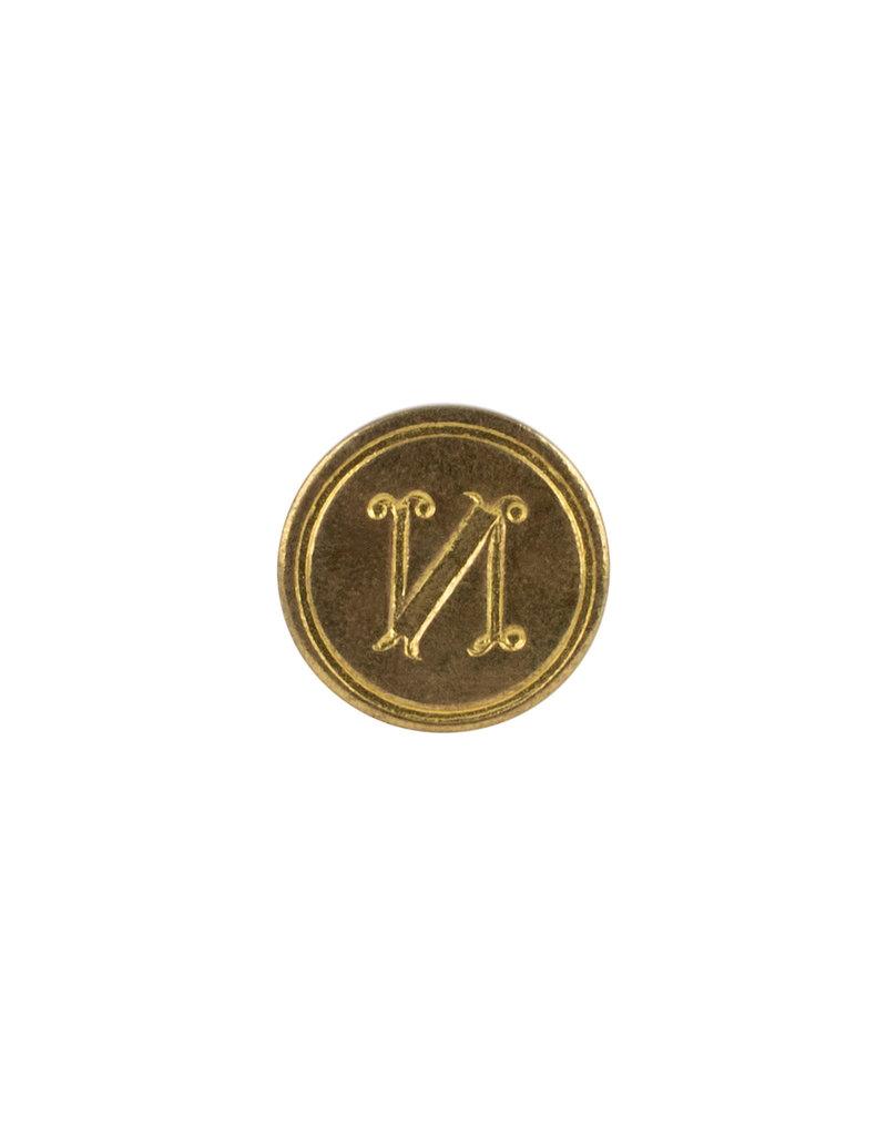 """Freund Mayer Florentine Round Brass Seal Cerif """"N"""""""