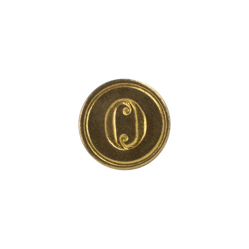 """Freund Mayer Florentine Round Brass Seal Cerif """"O"""""""