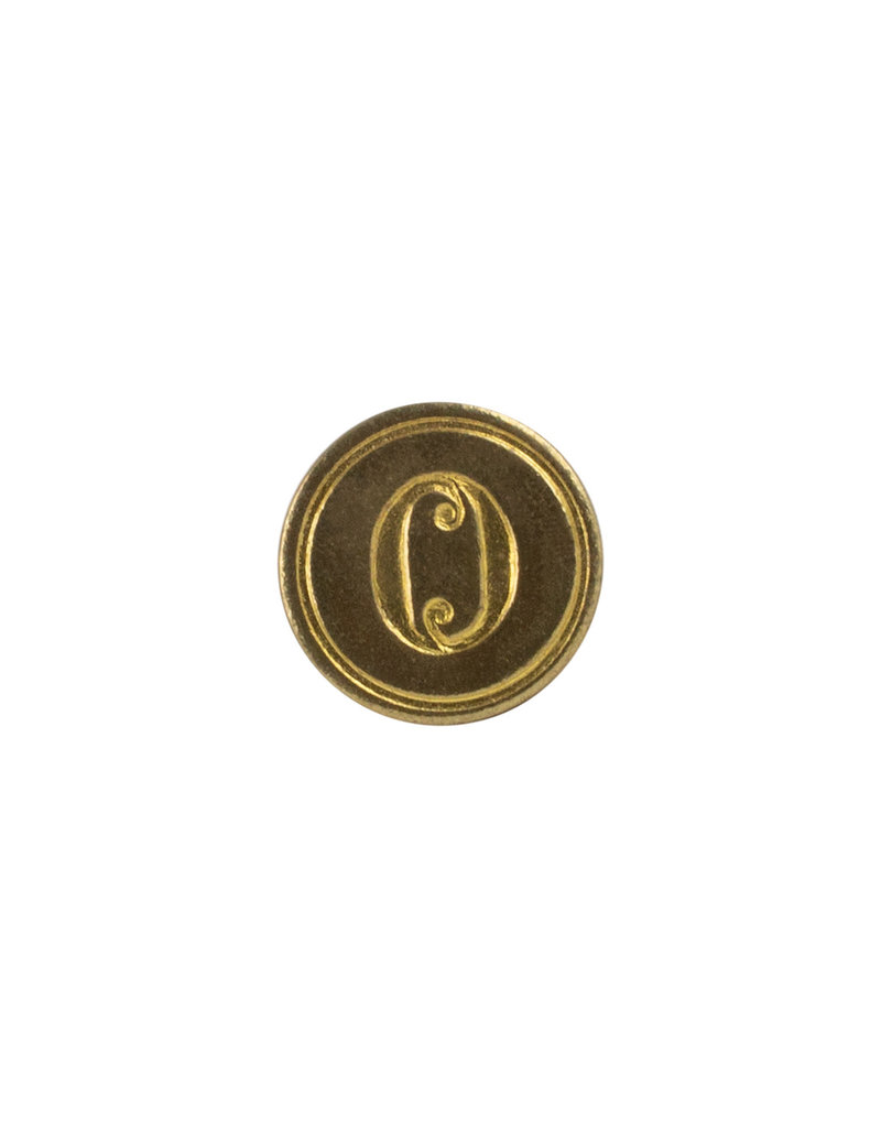 "Freund Mayer Florentine Round Brass Seal Cerif ""O"""