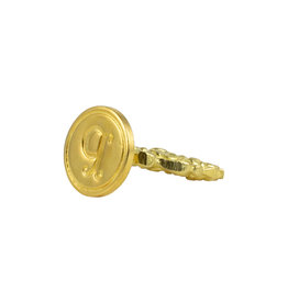 "Freund Mayer Florentine Round Brass Seal Cerif ""P"""