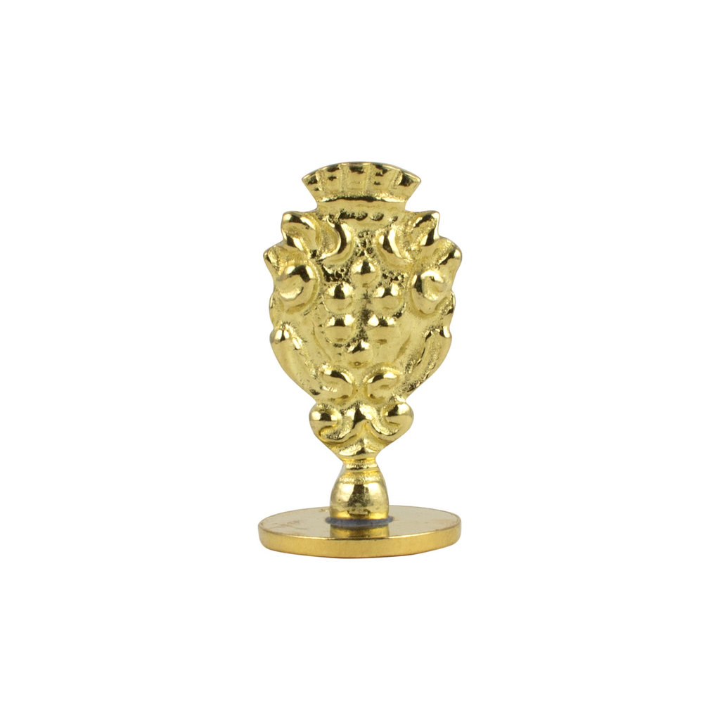 """Freund Mayer Florentine Round Brass Seal Cerif """"R"""""""