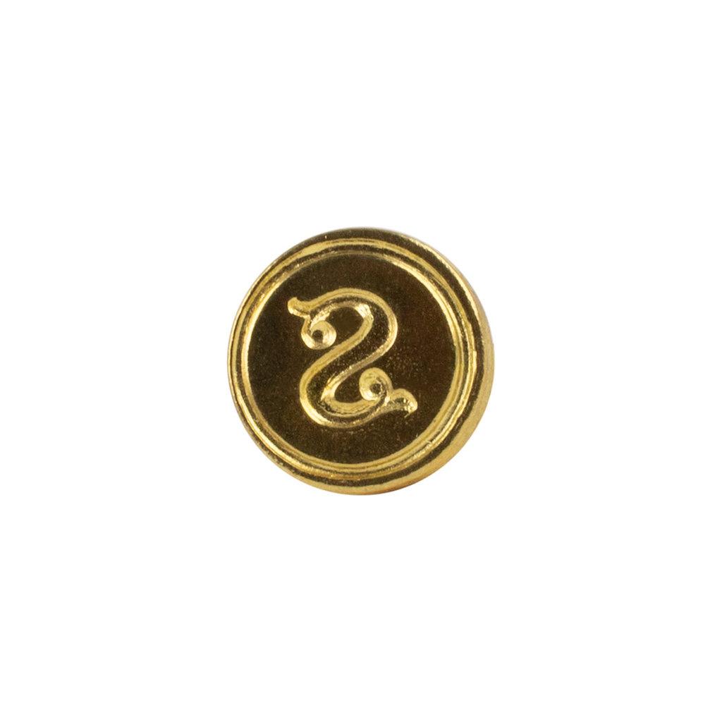 """Freund Mayer Florentine Round Brass Seal Cerif """"S"""""""