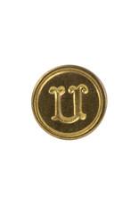 """Freund Mayer Florentine Round Brass Seal Cerif """"U"""""""