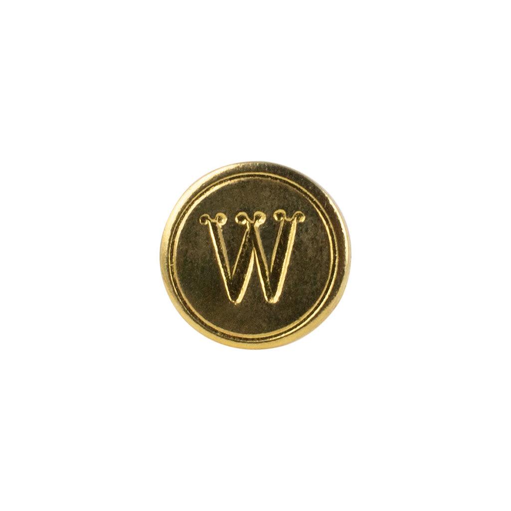 """Freund Mayer Florentine Round Brass Seal Cerif """"W"""""""