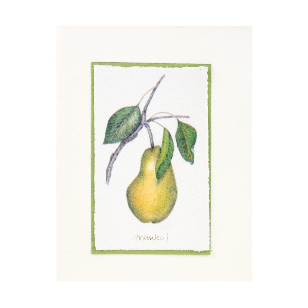 Grace Watercolors Yellow Pear Thanks