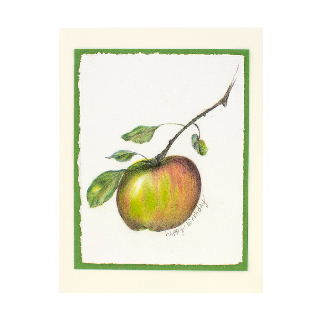 Grace Watercolors Apples Happy Birthday