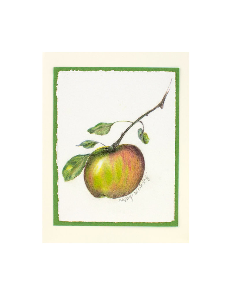 Grace Watercolors Apples Happy Birthday