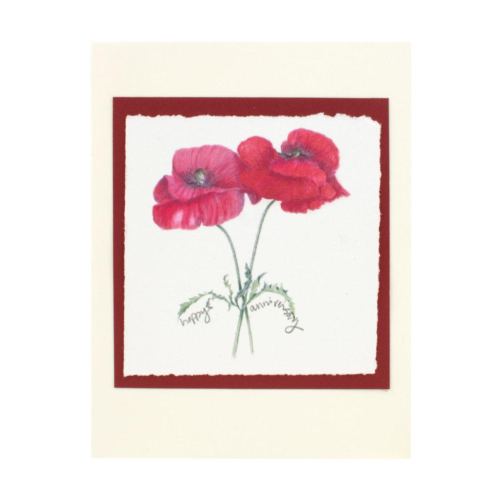Grace Watercolors Poppy  happy anniversary
