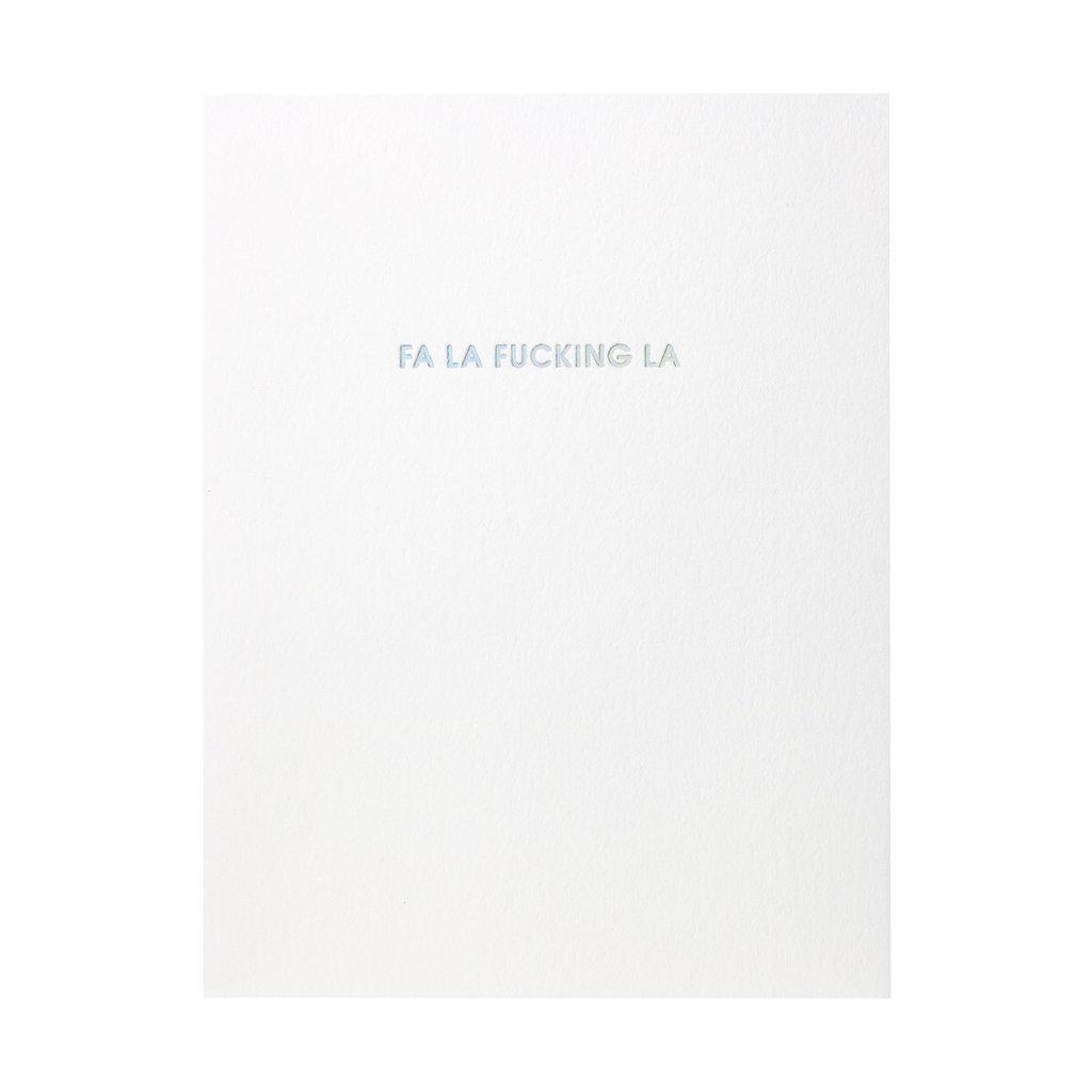 Chez Gagne Fa la F*cking la Letterpress Card