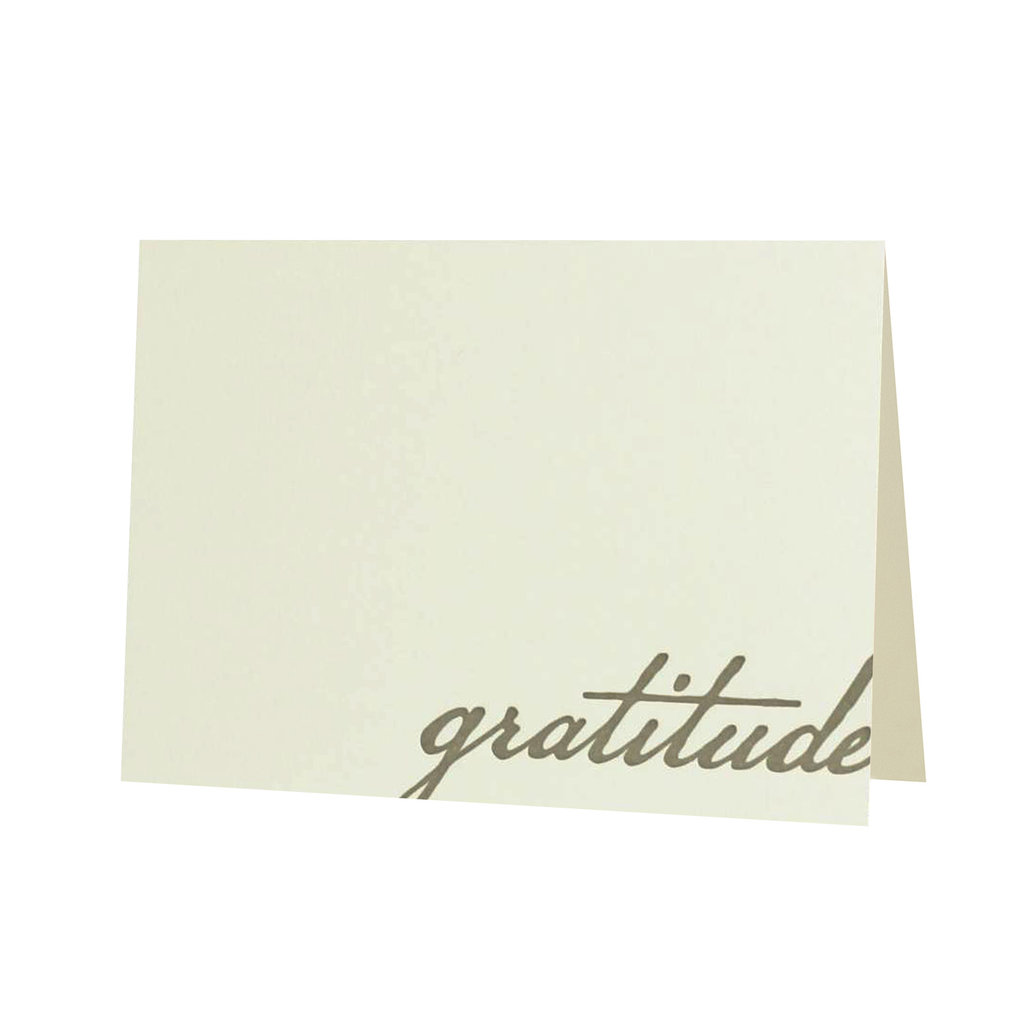 Oblation Papers & Press Gratitude Thank You Letterpress Card