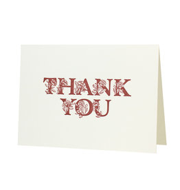 Oblation Papers & Press Floral Alphabet Thank You Letterpress Card
