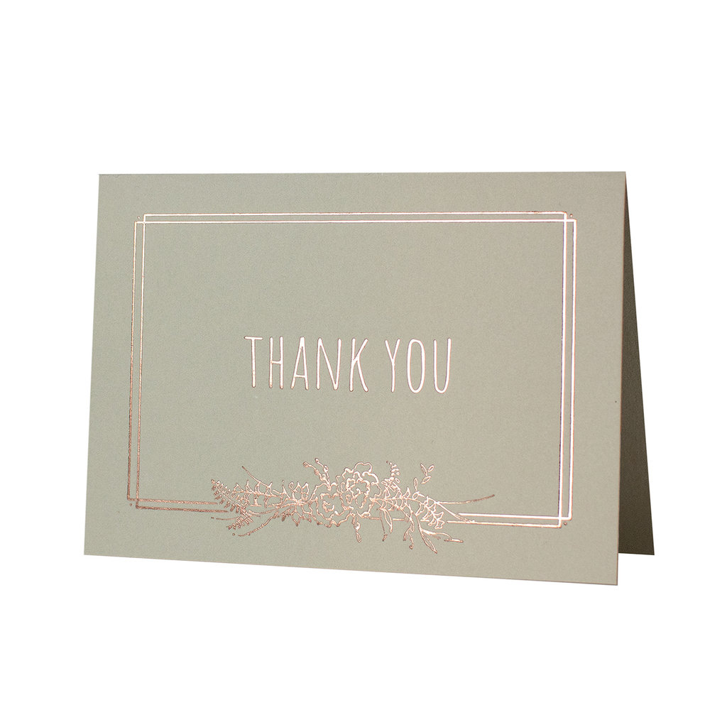 Oblation Papers & Press Deco Floral Thank You