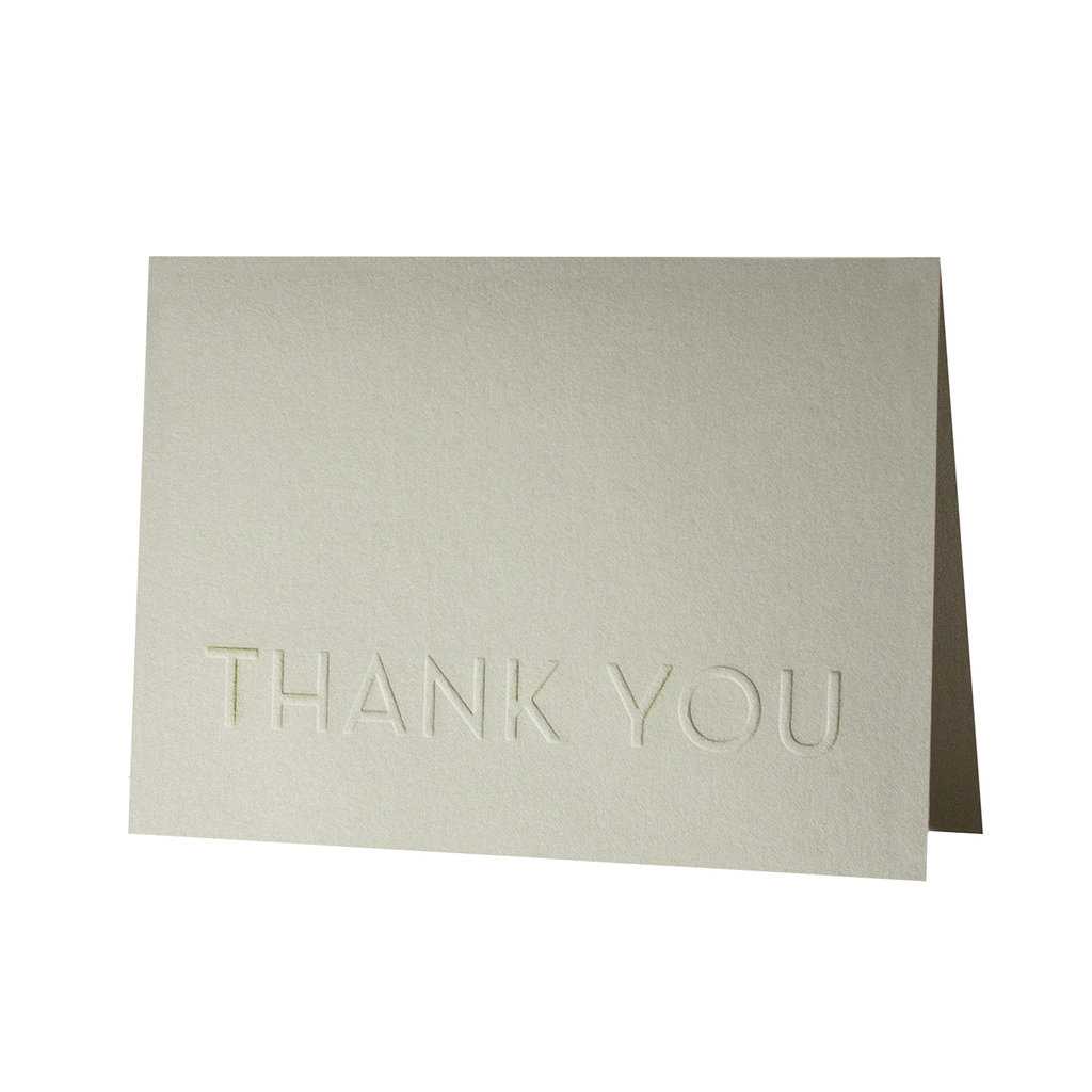 Oblation Papers & Press Thank you embossed card