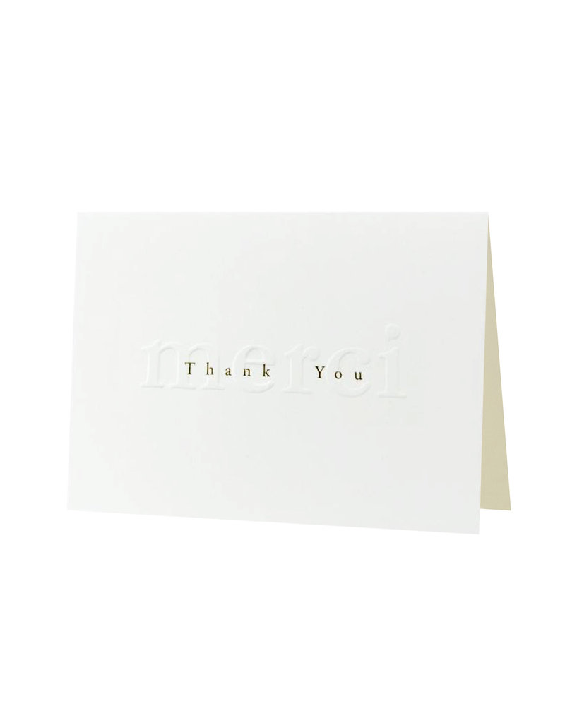 Oblation Papers & Press Gilded Age Thank You Merci