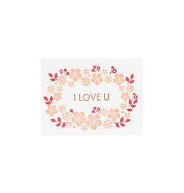 Ilee Papergoods Flowers I Love U Letterpress Enclosure