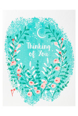 Ilee Papergoods Flowers Thinking Of You Letterpress Card
