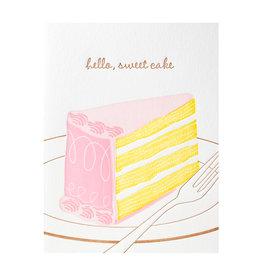 Ilee Papergoods Hello, Sweet Cake Letterpress Card