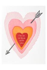 Ilee Papergoods I'm So In Love Letterpress Card