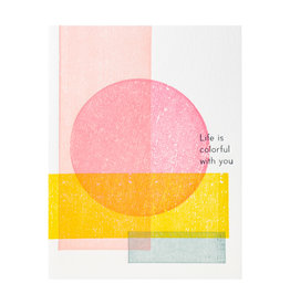 Ilee Papergoods Geometric Life is Colorful Letterpress Card