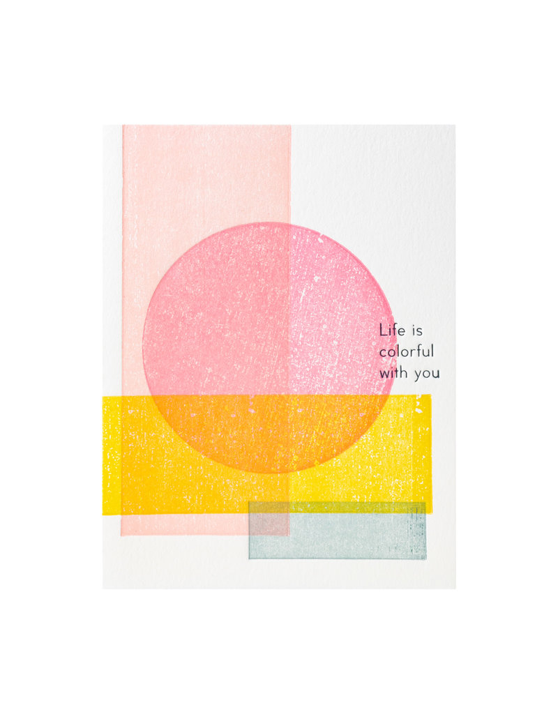 Ilee Papergoods Geometric Life is Colorful