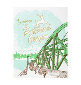 Ilee Papergoods Bridge Greetings from Portland Letterpress Card