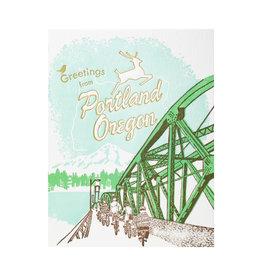 Ilee Papergoods Bridge Greetings from Portland