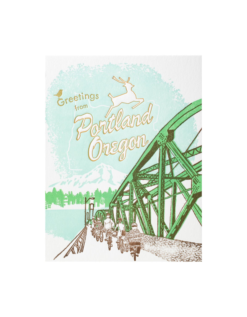 Ilee Papergoods Bridge Greetings from Portland