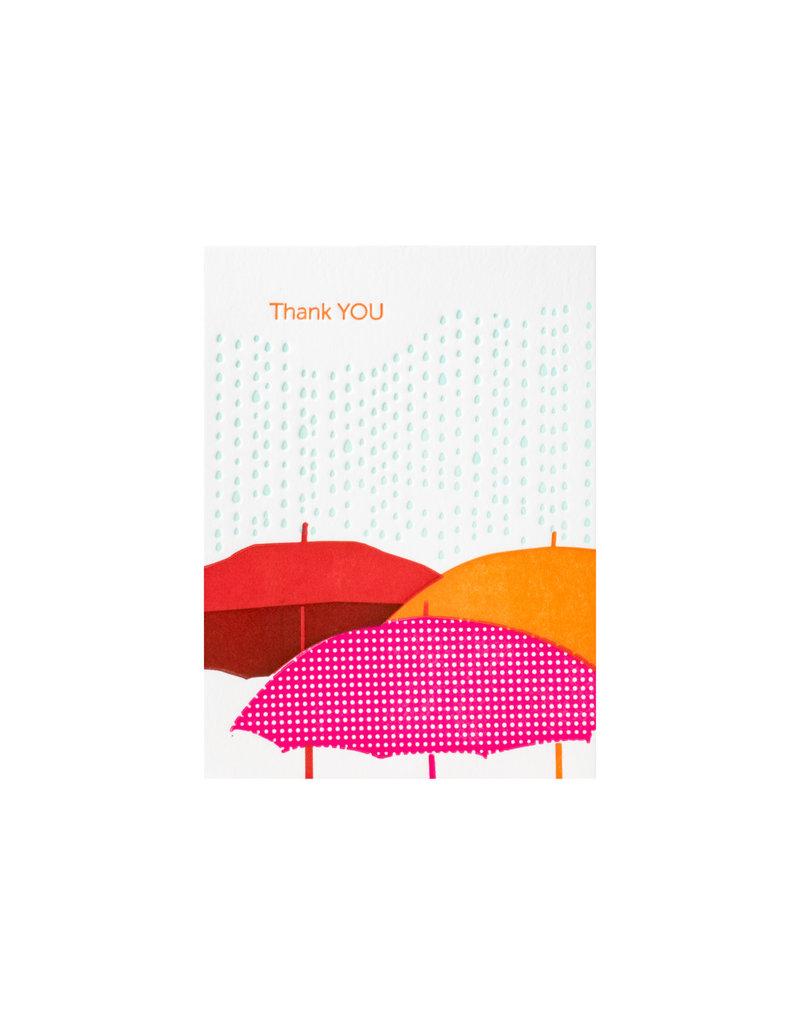 Ilee Papergoods Umbrellas Thank You box of 6
