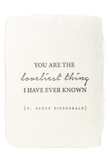 Paper Baristas You Are The Loveliest Thing quote